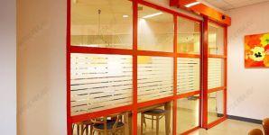 фото стилизованные автоматические раздвижные межкомнатные двери