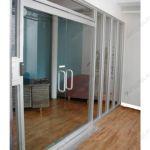 фото двойные распашные остекленные двери