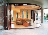 фото радиусные раскладные двери гармошка