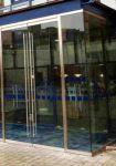 фото маятниковые распашные двери металлические