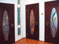 фото двери пвх с витражом
