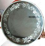 Пескоструйный рисунок на овальном зеркале фото