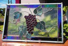 фото витраж картинки винограда