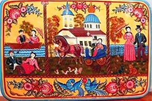 фото городецкая роспись интерьера