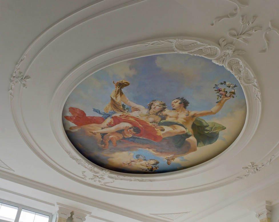 фото расписные потолки