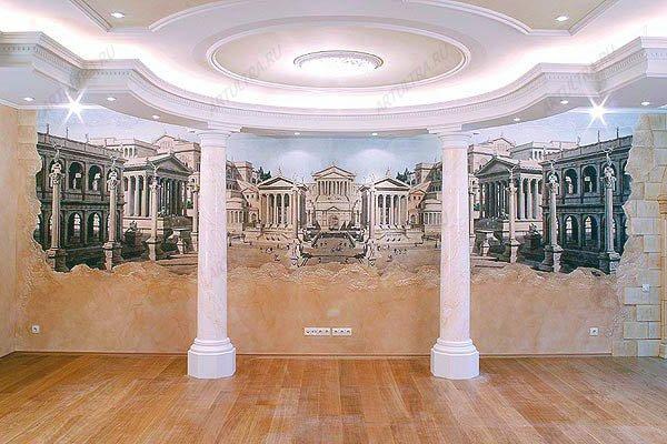 фото масляная роспись стены
