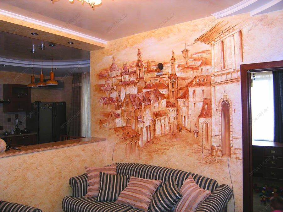 фото роспись стен масляными красками