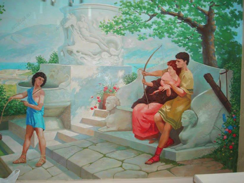 фото роспись стен маслом