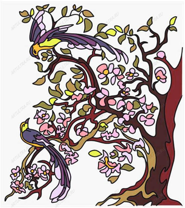 фото трафареты для витражей цветы
