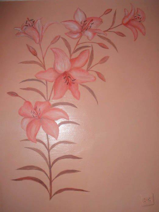 Все о росписи стен акриловыми красками