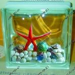 Декоративные стеклоблоки с композициями внутри2