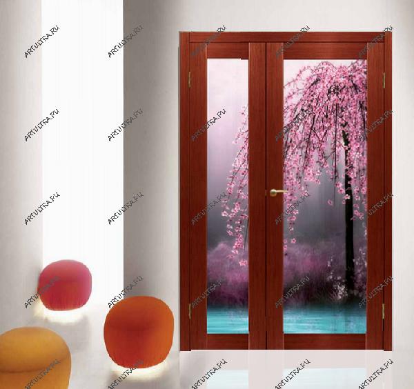 межкомнатные двери с фотопечатью на стекле цена