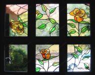 """Витраж в окно """"Роза"""""""