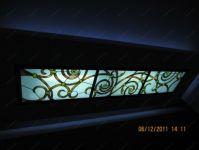 фото витраж в итальянском стиле на потолке
