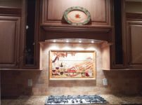 Кухонные фартуки с подсветкой