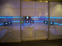 фото матовые двойные раздвижные автоматические межкомнатные двери
