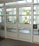 фото металопластиковые двойные автоматические межкомнатные двери