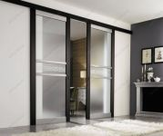 фото двоные раздвижные матовые межкомнатные стеклянные двери