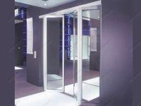 фото двойные складные межкомнатные стеклянные двери