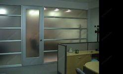 фото высокие матовые алюминевые межкомнатные маятниковые двери