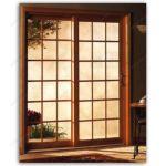 фото деревянные раздвижные двери со стеклом