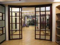 фото стеклянные с перекрытиями раздвижные радиусные двери