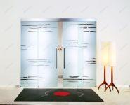 фото слайдинг межкомнатные матовые стеклянные двери