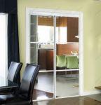 фото двойные раздвижные слайдинг межкомнатные зеркальные двери