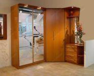 фото двойные зеркальные двери для шкафа-купе с матовыми вставками