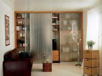 фото тройные матовые двери для шкафа-купе