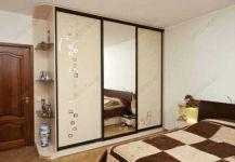 фото зраздвижные зеркальные двери для шкафа-купе с нанесением