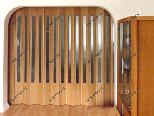 раздвижные двери гармошка из дерева