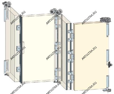 Дверь гармошка как сделать