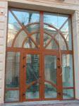 фото распашные двустворчатые двери в библиотеку