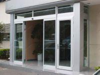 фото наружные раздвижные двери из алюминиевого профиля