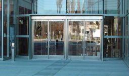 фото автоматические двери из не ржавеющей стали