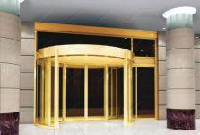 фото комбинированые автоматические полукруглые двери