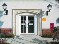 фото автоматические распашные двустворчатые двери магазина осветительных товаров