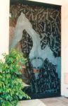 фото элитные стеклянные двустворчатые двери спорт-бара