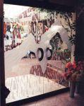 фото элитные стеклянные распашные двери кафе
