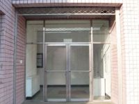 фото маятниковые уличные двери в салон сотовой связи