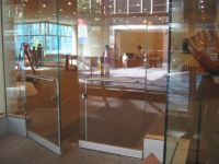 фото офисные входные маятниковые двери