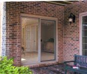 фото алюминиевая входная дверь в частный дом