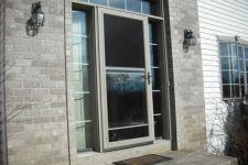 фото входная дверь в частный дом из алюминиевого профиля