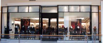 фото двухпальные входные двери для магазина одежды