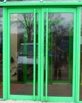 фото двухпольные входные двери для магазина