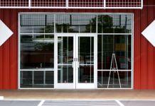 фото стальные входные двери для магазина