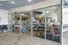 фото входные двери для магазина из алюминиевого профиля