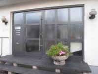 фото алюминевые однопальные входные двери