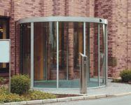 фото алюминевые радиусные автоматические входные двери